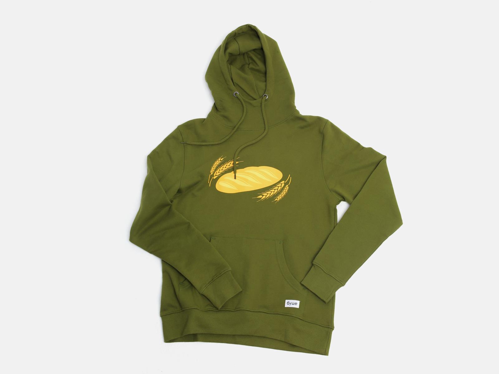 Худи Батон (зеленое) XL