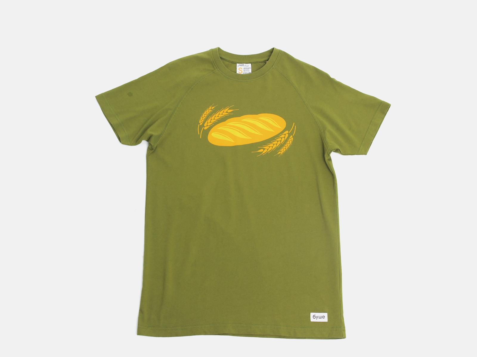 Футболка Батон (зеленая) S