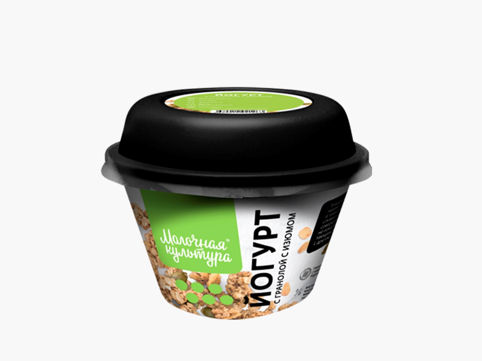 МК Йогурт натуральный с гранолой 3,5% 215 г