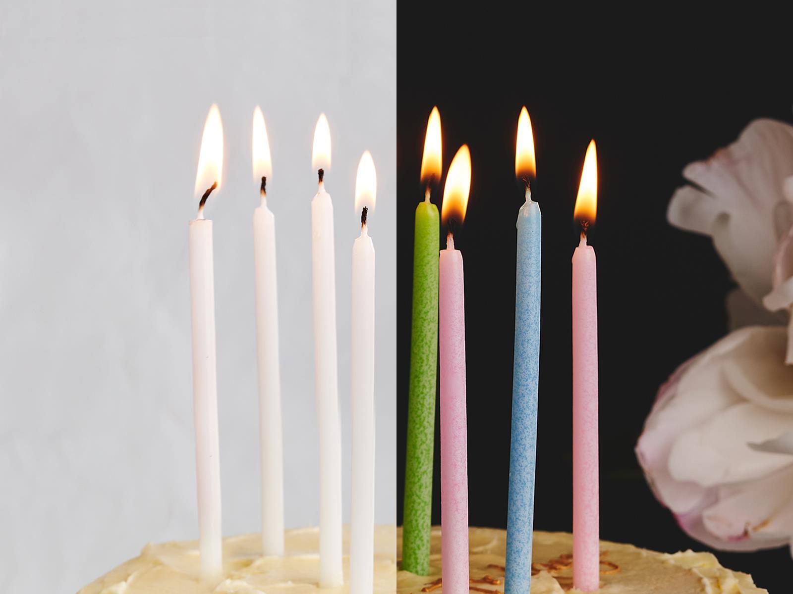 Свечи праздничные (в ассортименте) высокие